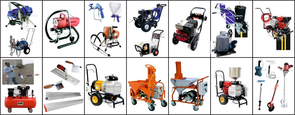 Airless Paint Sprayers & Plastering Machine