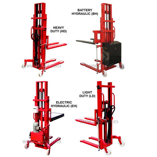 Manual Hydraulic Stacker Adjustable Fork Stacker And